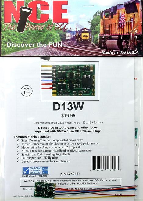 "NCE 524171 (D13W) Decoder (0.850"" x 0.630"" x 0.95"")"