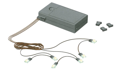 Battery-Powered Flashing Chip-Type LED Lighting Kit in Yellow