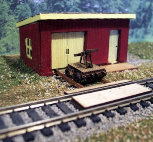 Osborn Model Kits N 3108 Maintenance Shed Kit (Hand Car and Track Bed)