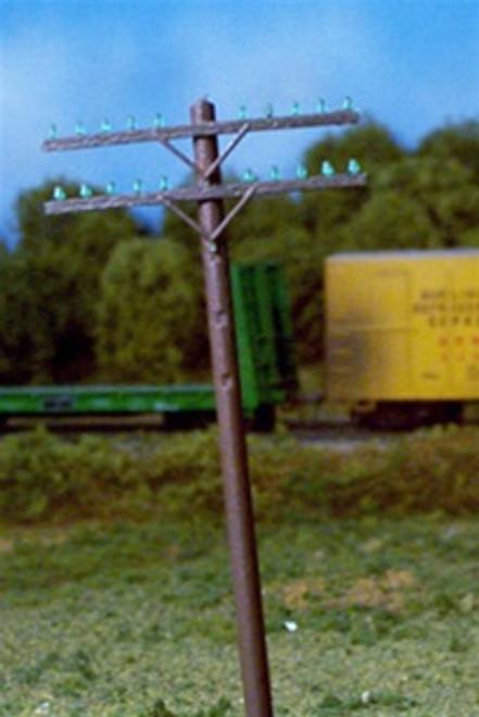 Rix Products HO 628-0032 Railroad Telephone Poles, Two Crossarm Kit