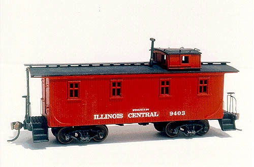 "American Model Builders HO 862 Illinois Central ""Iowa Division"" Wood Cupola Caboose Kit"