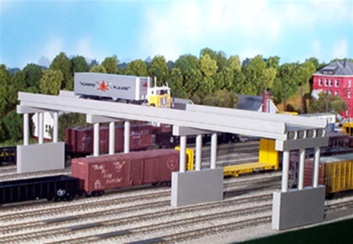 Rix Products N 628-0163 Modern 150' Highway Overpass with Piers Kit