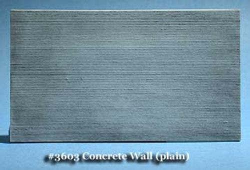 Fine N Scale 3603 Board Formed Plain Concrete Retaining Wall (2)
