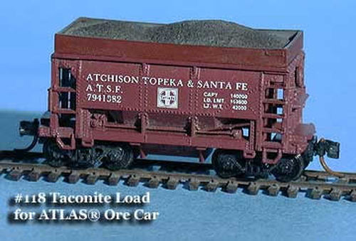 """Fine N Scale 118 Taconite """"Iron Ore"""" Loads With Extended Sides for Atlas Ore Car (4)"""