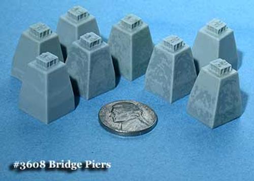 Fine N Scale 3608 Bridge Piers for Micro-Engineering Girder Bridge and Steel Viaduct Towers (8)