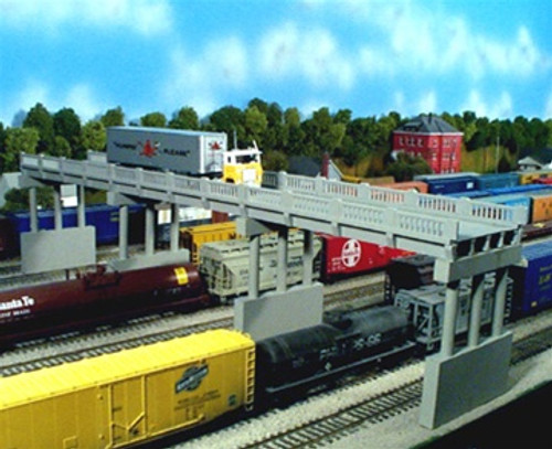 Rix Products N 628-0153 Early 150' Highway Overpass with Piers Kit