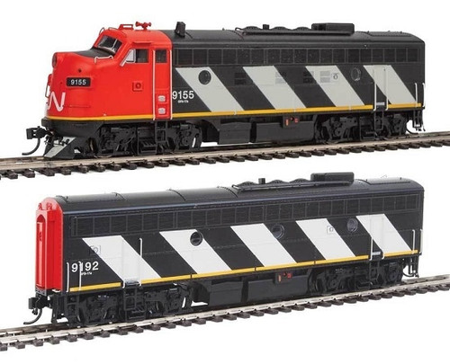Walthers Proto HO 920-40908 EMD F7 A-B Set, Canadian National #9155/9192 (Tsunami Sound and DCC Equipped)