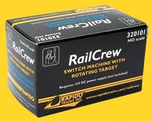 Rapido HO 320101 RailCrew Switch Machine with Rotating Target