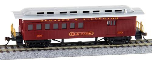 "Bachmann Silver Series HO 13507 1860-1880 Combine Car, Durango and Silverton ""Elk Park"" #150"