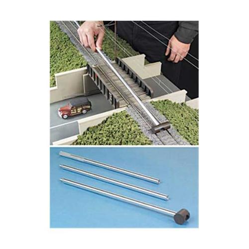 Micro-Mark N 83033 N Gauge Track Cleaner on a Metal Stick