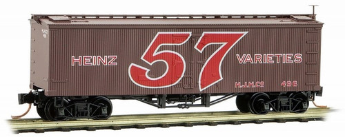 Micro-Trains N 05800290 36' Wood Sheathed Ice Refrigerator Car with Truss Rods, Heinz Car #4