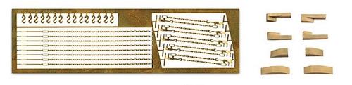 Artitec HO 387.349 Small Chains, Hooks and Chocks Set