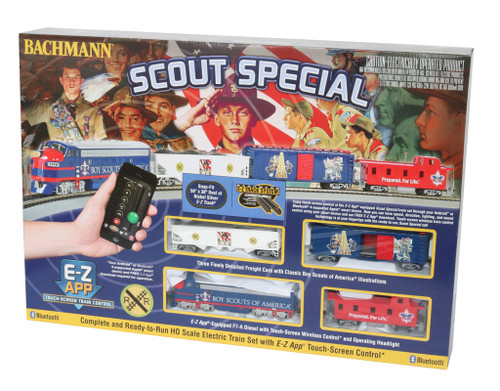 Bachmann HO 01503 Scout Special Train Set with E-Z App Train Control