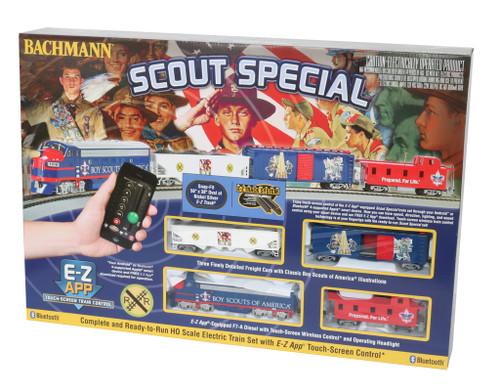Bachmann HO 01503 Scout Special Train Set with E-Z App Train Control
