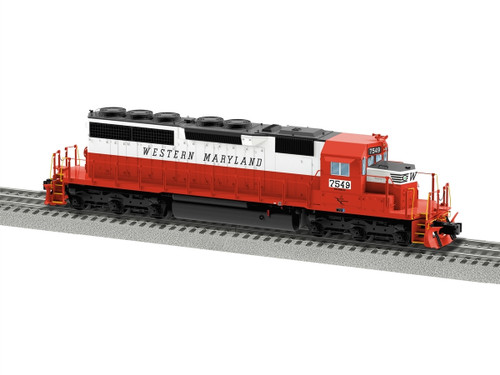 Lionel O 6-84268 EMD SD40 Diesel Engine, Western Maryland #7547 (d)
