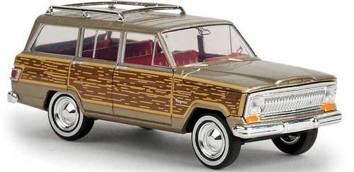 Brekina HO 19856 1967 Jeep Wagoneer with Woody Sides, Gold