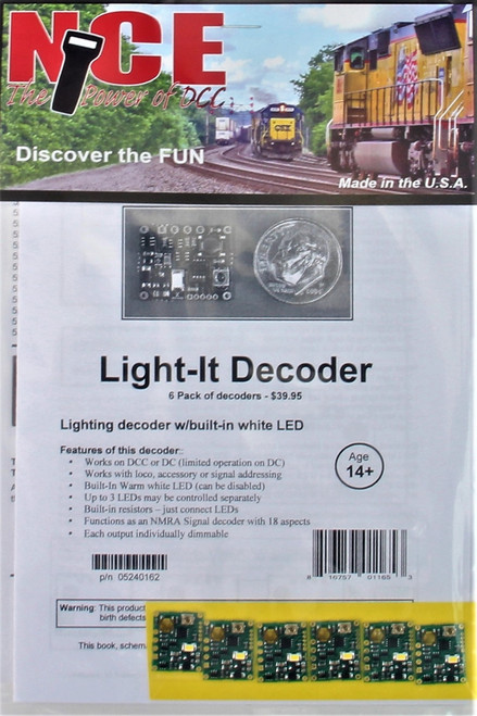 NCE 524162 Light-It Decoder with Built-In White LED (6-Pack)