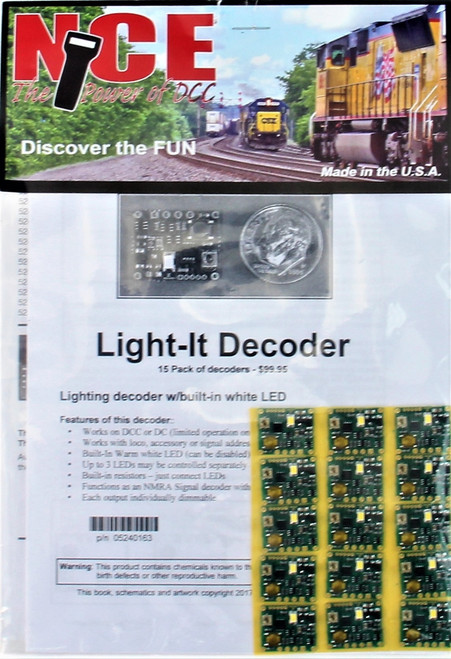 NCE 524163 Light-It Decoder with Built-In White LED (15-Pack)