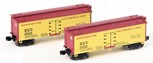 Full Throttle Z FT9005-1 34' Woodside Refrigerator Car Set #1, Baltimore and Ohio (2-Pack)
