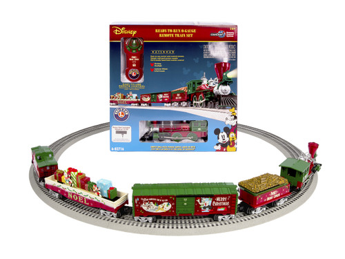 Mickeys Holiday to Remember LionChief Lionel Train Set, a holiday train set