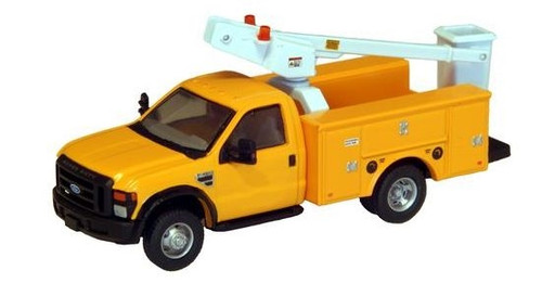 """River Point Station HO 536572602 Ford F-450 XL Bucket Truck, Regular Cab with Dual Rear Wheels (Yellow with Black Grille and Bumpers, 17"""" Argent Wheels)"""