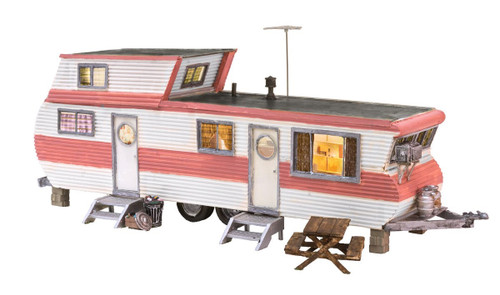 Woodland Scenics HO BR5061 Built and Ready Double Decker Trailer (Lighted)