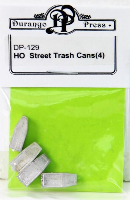Durango Press HO 129 Street Trash Cans (4)
