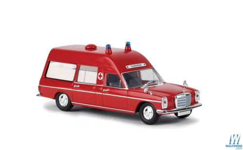 Brekina HO 13801 Mercedes-Benz MB/8 Ambulance, Red/White (German Lettering)