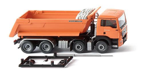 Wiking HO 4006190674485 Dump Truck (MAN TGS Euro 6), Orange