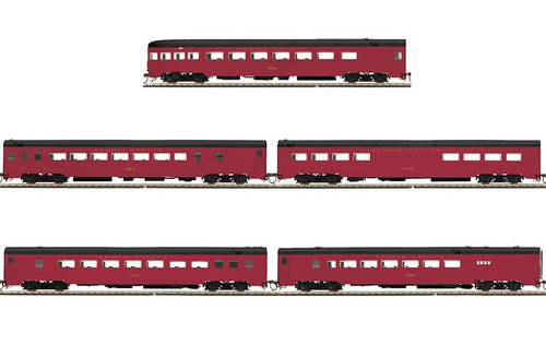 MTH HO 80-60046 5-Car Smoothside Passenger Set, Lehigh Valley