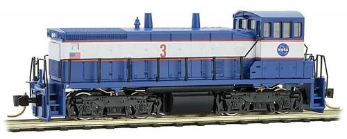 Micro-Trains N 98600080 SW1500 Diesel Switcher Locomotive, NASA #3