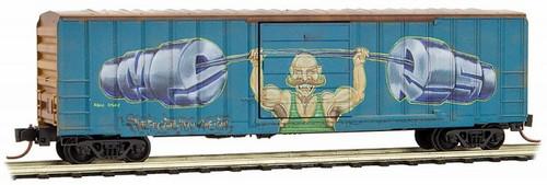 Micro-Trains N 02544560 50' Rib Side Box Car with Single Door, Railbox Graffiti Car #1