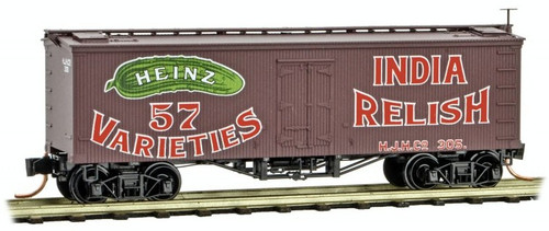 Micro-Trains N 05800320 36' Wood Sheathed Ice Refrigerator Car with Truss Rods, Heinz Car #7