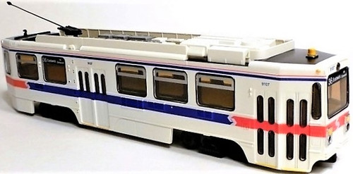 Imperial Hobby Productions HO 8704P Kawasaki Single-End LRV Powered Trolley SEPTA (Phase 2 1981) #9107 (2-Rail DC)