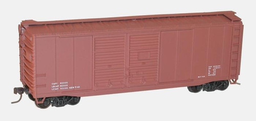 Accurail HO 3698 40' AAR Double Door Steel Box Car Kit, Data Only (Mineral Red)