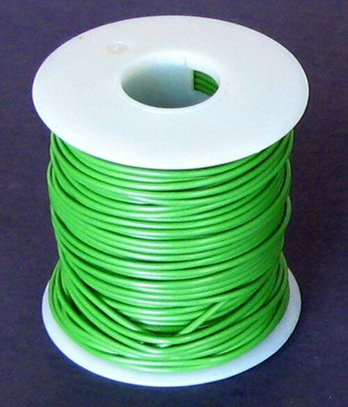 A.E. Corporation 18GN-100 18 GA Green Hook-Up Wire, Stranded 100'