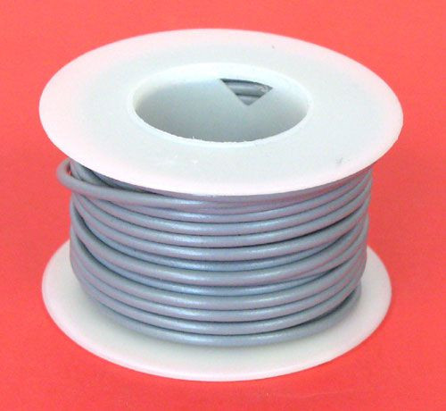 A.E. Corporation 18GY-25S 18 GA Gray Hook-Up Wire, Solid 25'