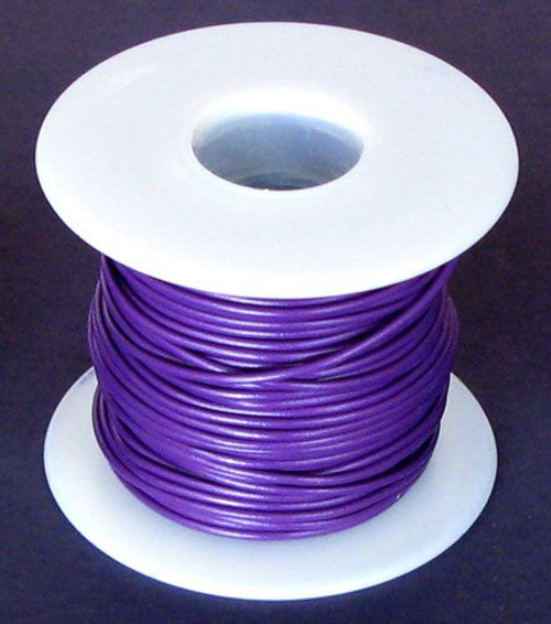 A.E. Corporation 18PR-100S 18 GA Purple Hook-Up Wire, Solid 100'