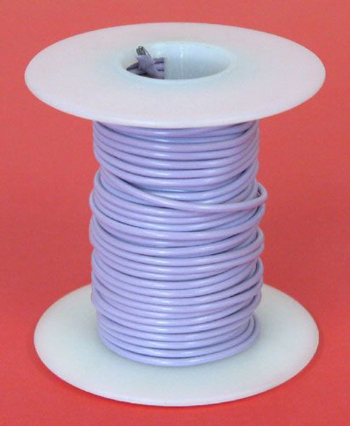 A.E. Corporation 18PR-25S 18 GA Purple Hook-Up Wire, Solid 25'