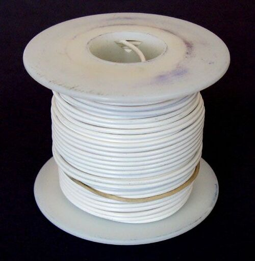 A.E. Corporation 18WT-100 18 GA White Hook-Up Wire, Stranded 100'