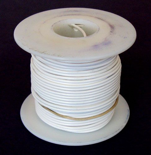 A.E. Corporation 18WT-100S 18 GA White Hook-Up Wire, Solid 100'