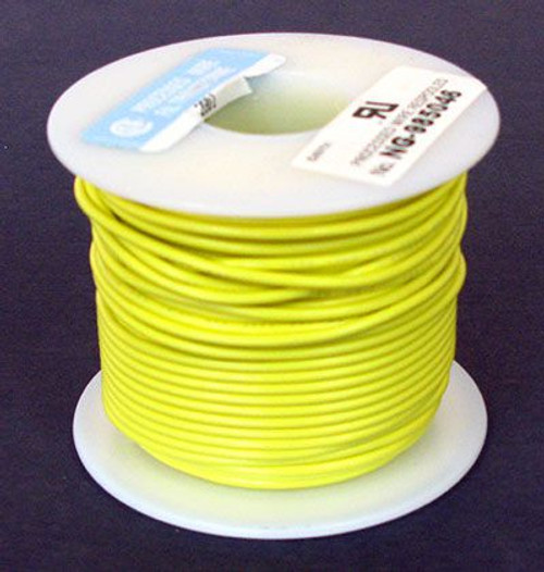 A.E. Corporation 18YL-100S 18 GA Yellow Hook-Up Wire, Solid 100'