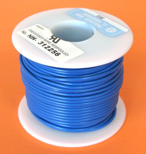 A.E. Corporation 20BL-100S 20 GA Blue Hook-Up Wire, Solid 100'