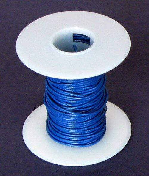 A.E. Corporation 20BL-25 20 GA Blue Hook-Up Wire, Stranded 25'