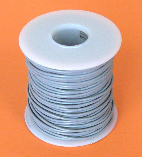 A.E. Corporation 20GY-100 20 GA Gray Hook-Up Wire, Stranded 100'