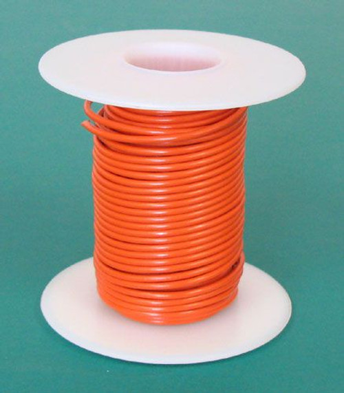 A.E. Corporation 20OR-25S 20 GA Orange Hook-Up Wire, Solid 25'