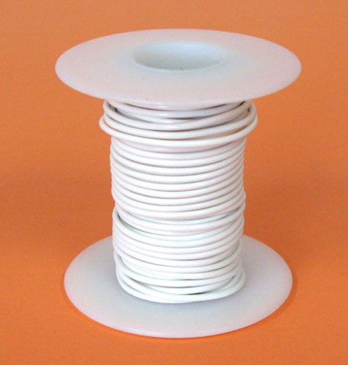 A.E. Corporation 20WT-25S 20 GA White Hook-Up Wire, Solid 25'