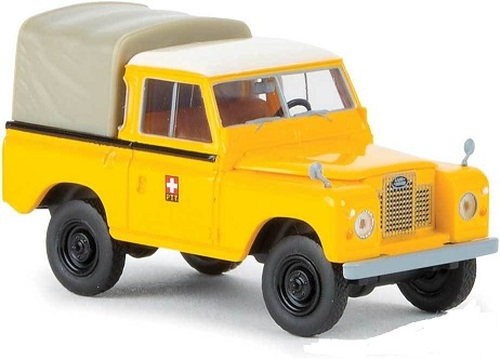 Brekina HO 13857 1968 Land Rover 88 Open-Cab Pickup Truck, PTT (Yellow)
