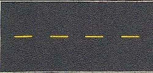 Walthers SceneMaster HO 949-1251 Flexible Self-Adhesive Paved Roadway, Vintage and Modern No Passing Zone (Yellow Dashed Center Line)