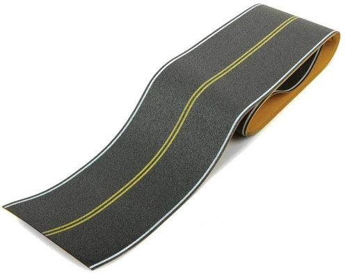 Walthers SceneMaster HO 949-1252 Flexible Self-Adhesive Paved Roadway, Vintage and Modern No Passing Zone (Double Yellow Center Line)